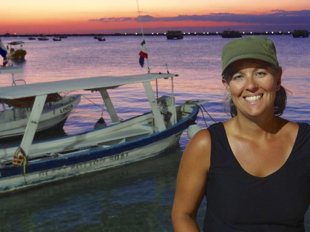 Sara sunset Cozumel