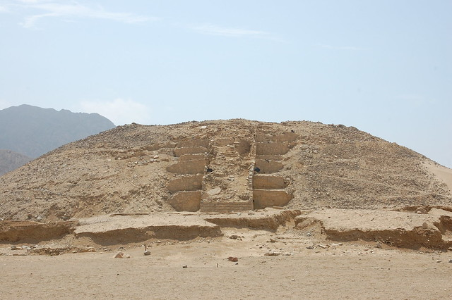 Pyramid in Restoration at Caral