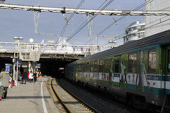 En gare de Montpellier