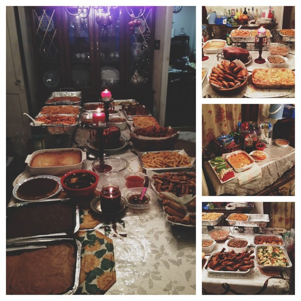 can u believe this spread is still incomplete? #picstitch #vscocam #nye #filipinofood #nyc