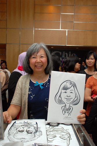 caricature live sketching for Civica Dinner & Dance 2012 - 5