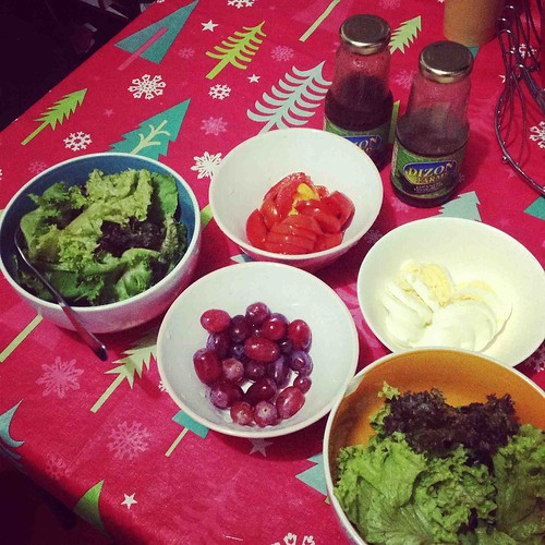 Arugula & Mixed Greens Salad with Japanese and Italian Vinaigrette