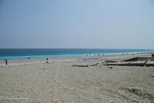 Public Beach Behind Military Base in Hualien