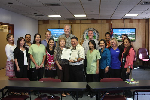 MAYOR HONORS UH MAUI COLLEGE BABY DENTAL PACKET PROJECT