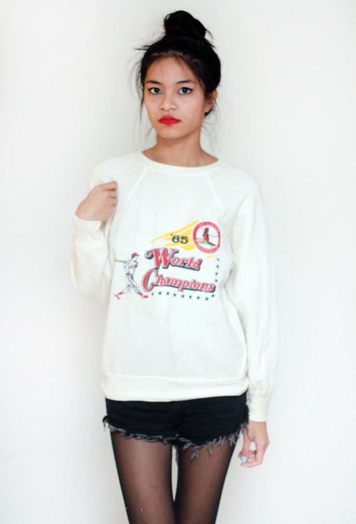 vintage world series cardinals sweater by Tarte Vintage at shoptarte.com