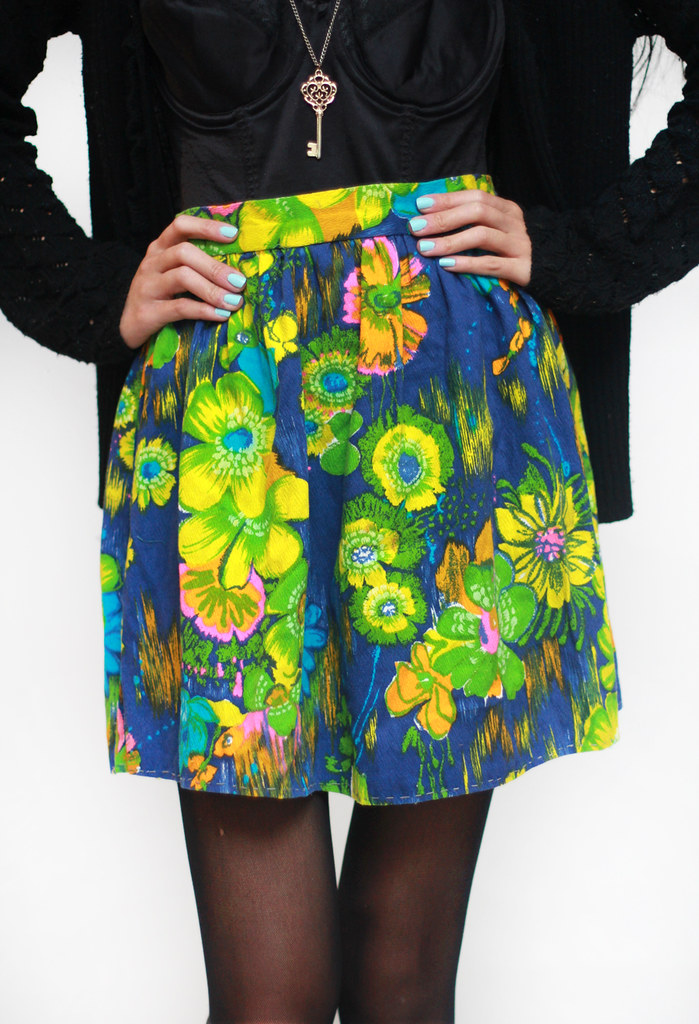vintage tropical 60s skirt by Tarte Vintage at shoptarte.com