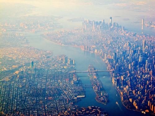 nyc newyork brooklyn cityscape skyscrapers manhattan queens lga rooseveltisland birdsview