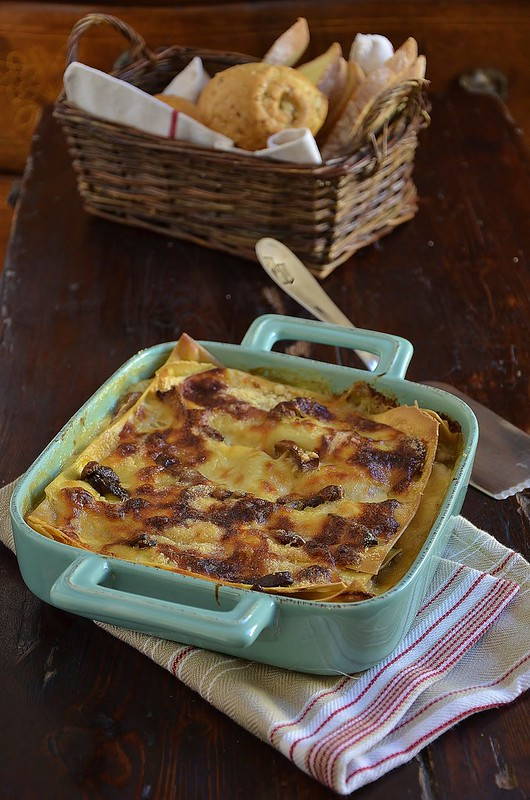 Lasagne with mushrooms