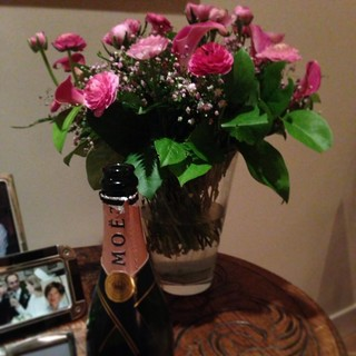 Pink Champagne & Flowers