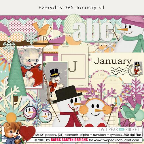 Everyday 365 January Kit