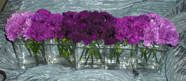 Purple ombre centerpiece flickr photo sharing