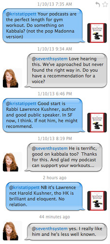 Twitter Conversation with Kabbalah