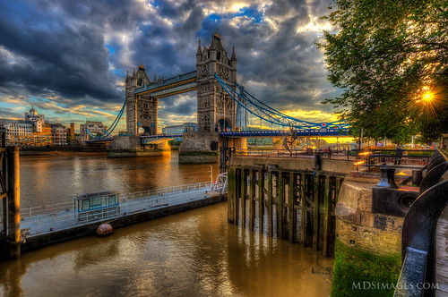 As golden light paints the Tower Bridge - Wandering around London