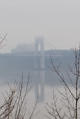 GW Bridge in the mist