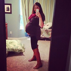 39 weeks, 2 days. Boots are tight. Legs are swelling. Woo.