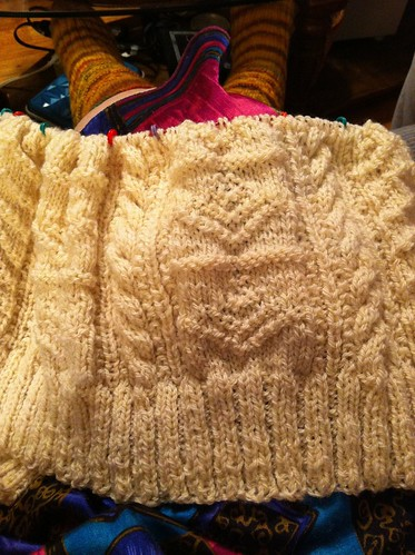 1-21-13 progress photo of Stornoway cardigan. by BlueDragon2
