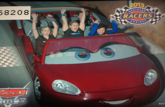 Casey, Me, Krissy, and Jenn in the back. Radiator Springs Racers at the runDisney Tinker Bell Half Marathon Meet-Up