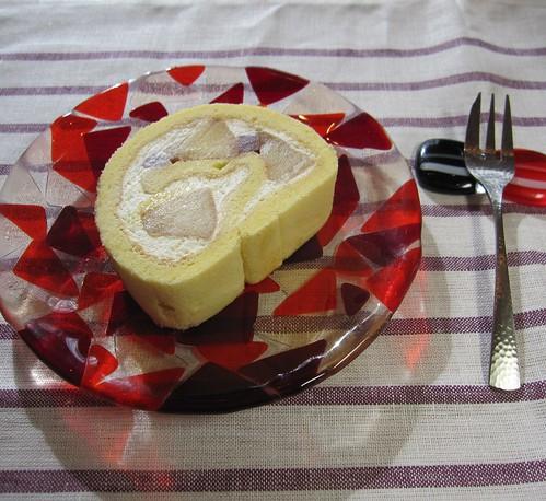 リンゴのロールケーキ カット by Poran111