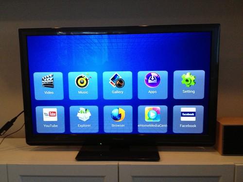 SmartTV:n aloitusnäkymä