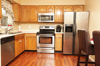 Stainless steel appliances in home for sale in Louisville KY