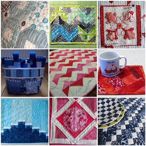 9 quilts created for the Project QUILTING My Favorite Color Challenge