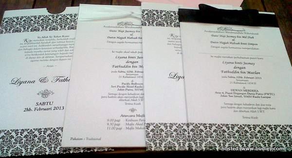 Gambar Kad Jemputan Majlis Nikah & Resepsi Liyana Jasmay