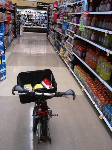 Brompton as shopping cart