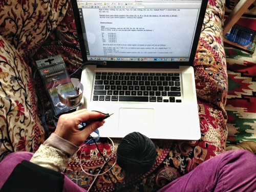 knitting, in English
