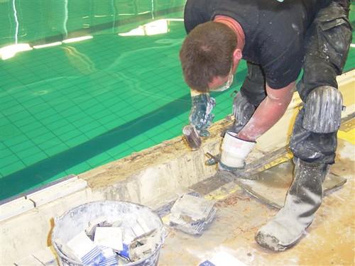 Uithakken van oude grijprand door duikbedrijf AWDIVING