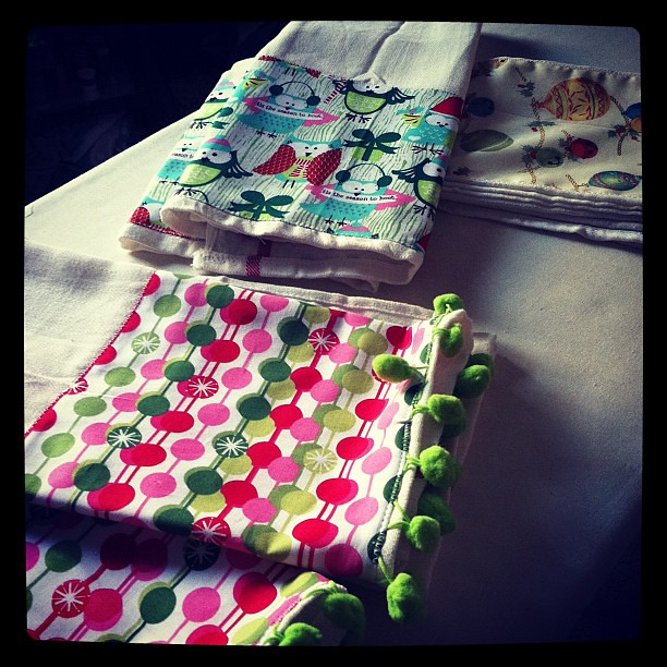 Festive towels! #projectchristmasfy