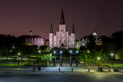 St Louis Cathedral at Night