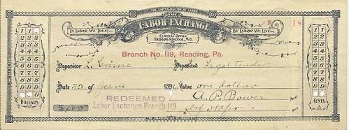 Labor Exchange note