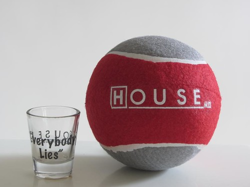 Every Body Lies Shot Glass and House Oversized Tennis Ball