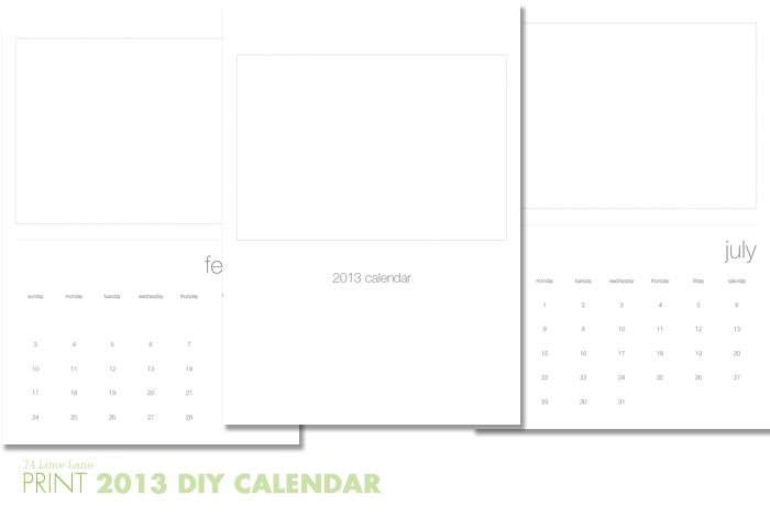 [print} 2013 DIY calendar