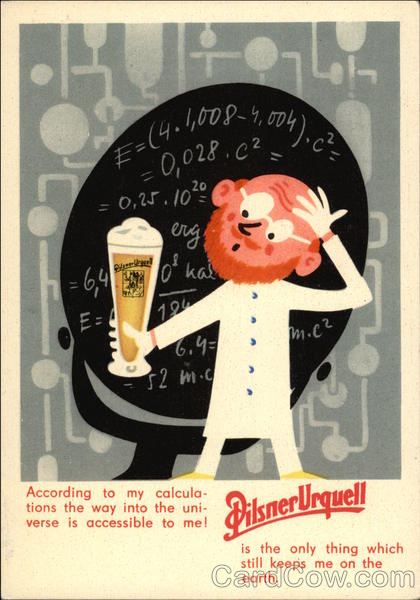 Beer In Ads #1065: Pilsner Urquell Keeps You On Earth - Brookston