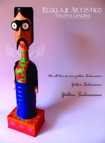 """Upcycled Art Plastic Bottles by PalomaCancino """"Urpi"""""""