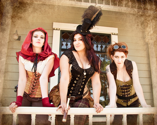 nerdy girlz/damsel in this dress steampunk 02