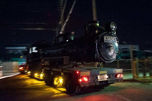 秩父鉄道 C58 363 大宮総合車両センターへ陸送される