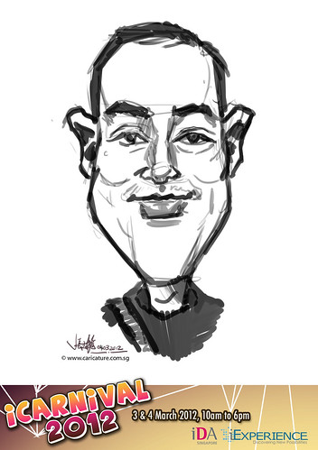 digital live caricature for iCarnival 2012  (IDA) - Day 2 - 22