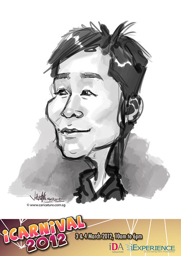 digital live caricature for iCarnival 2012  (IDA) - Day 2 - 81