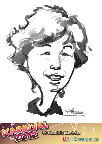 digital live caricature for iCarnival 2012  (IDA) - Day 1 - 67