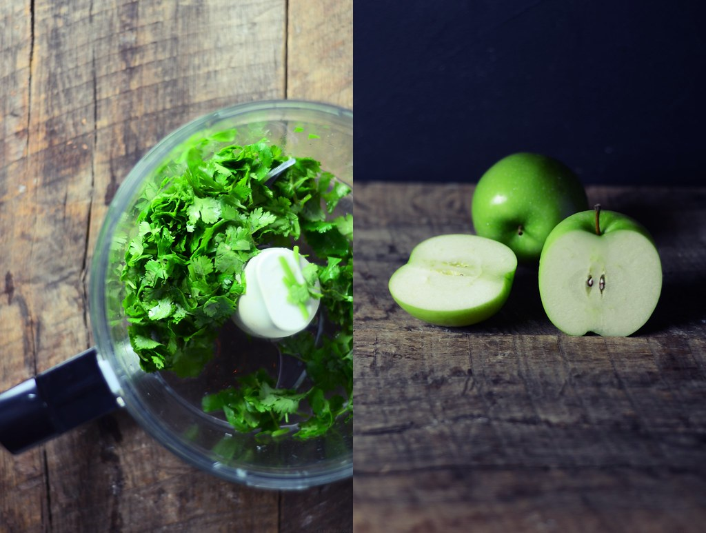 cilantro and apples