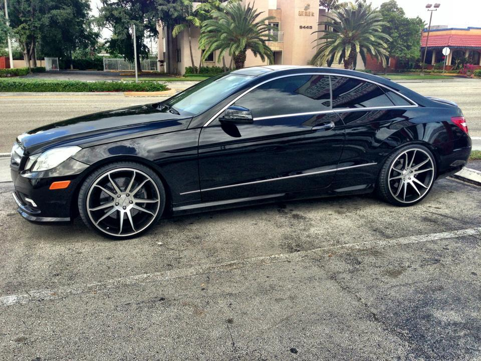 Mercedes benz e550 on concavo cw s5 matte black machined for 2012 mercedes benz e550 coupe
