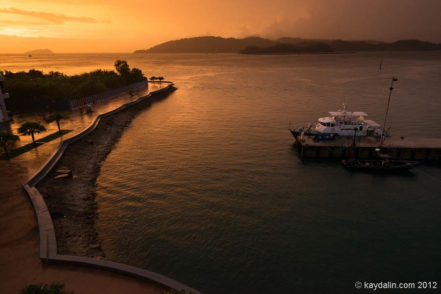 малайзия, кота кинабалу закат