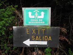 Volcán Poás, Fluchtweg und Schutzraum
