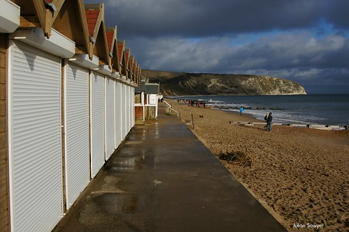 Moving Beach Huts by julian sawyer - Purbeck Footprints