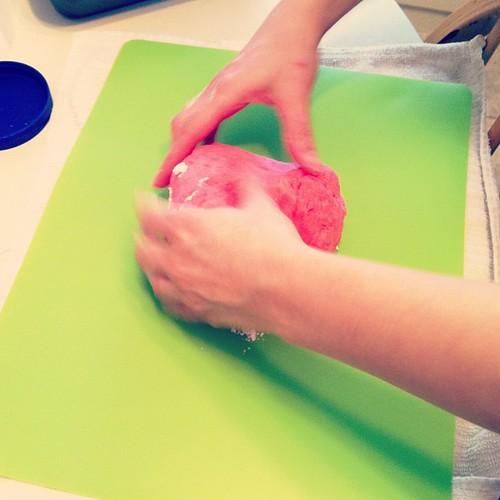 Making mochi!