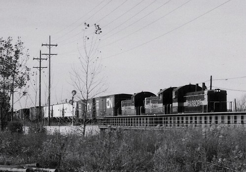 Southbound Indiana Harbor Belt transfer train.  Alsip Illinois.  October 1990. by Eddie from Chicago