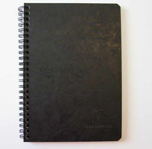 Clairefontaine Basics Wirebound Notebook + Pockets - Medium, Black