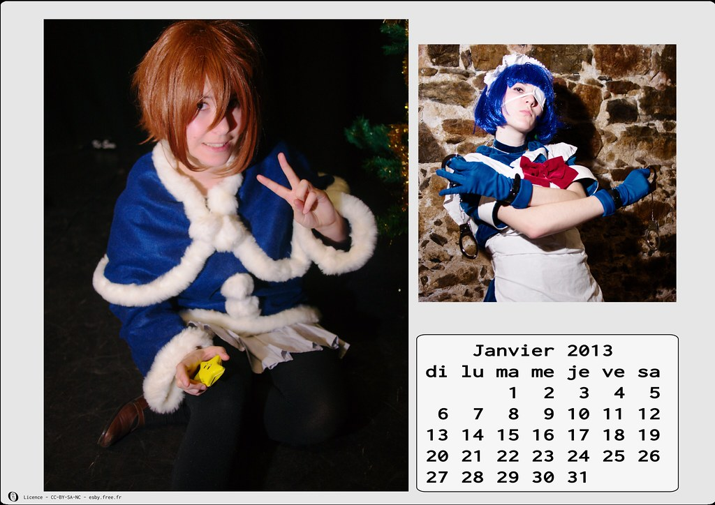 related image - Calendrier Cosplay 2013 - 01 - Janvier